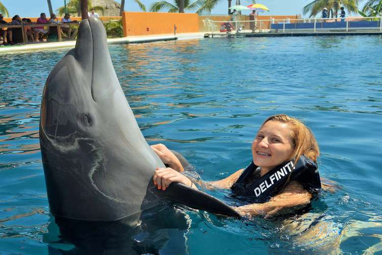 Swimming Programs, Ixtapa Swim With Dolphins | Pacific Tours Ixtapa. This is a must to do in Ixtapa, Swimming with dolphins is a unique experienced that need to be done, considerate one of the best activity to do in Ixtapa Zihuatanejo, There are two programs that we offer for this activity: Swimming Wih Dolphins & Encounter Wih Dolphins. Activities in Ixtapa Zihuatanejo